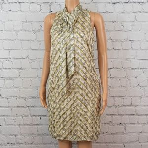 Banana Republic bow neckline dress